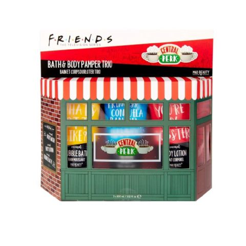 Friends Bath & Body Pamper Trio Central Perk Gift Set Mad Beauty 300ml